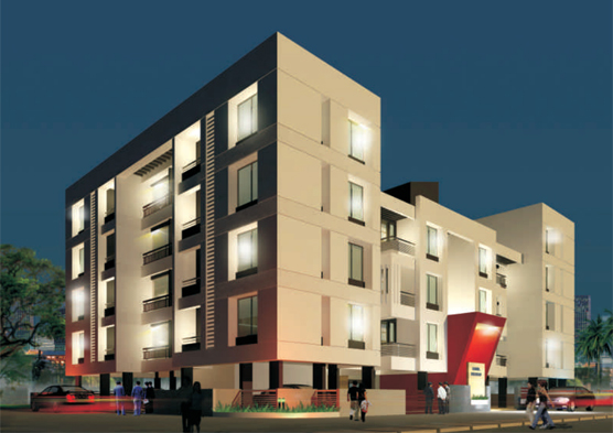 Royal Excello, a residential property for 2 BHK apartments by S P Landmarks at Adgaon, Nashik