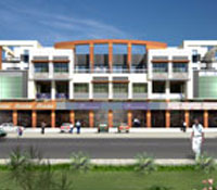Bodke Plaza, a commercial project for showrooms, corporate offices by Madhoor Buildwell(P.) Ltd, Dwarka