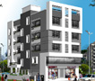Ravi Complex - 1, 2 BHK apartments and shops at Peth Road Nashik.