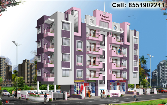 8 Legends, a residential property for 3 BHK apartments and shops by City Next Developers at Indira Nagar, Nashik