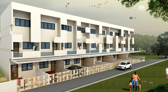 Kalyani Pearl, a residential property for 2 BHK Row Bungalows by Kalyani Builders at Krushnai Nagar, Nashik