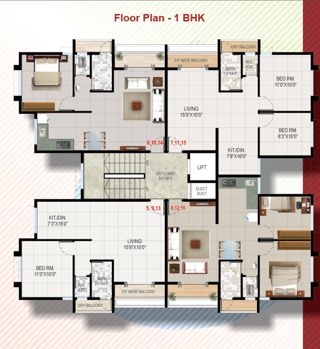 28 Bhk Floor Plans 1 Bhk Apartment In Talegaon 2 Bhk