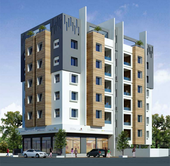Indu Heights -   Residential project comprising of 2 BHK apartments and Shops by Aman Developers at Panchvati, Nashik
