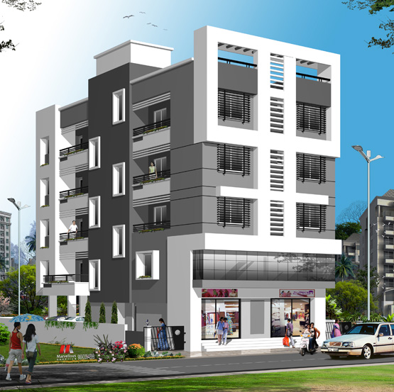 Ravi Complex - Residential project comprising of 1, 2 BHK flats and shops at Peth Road, Nashik